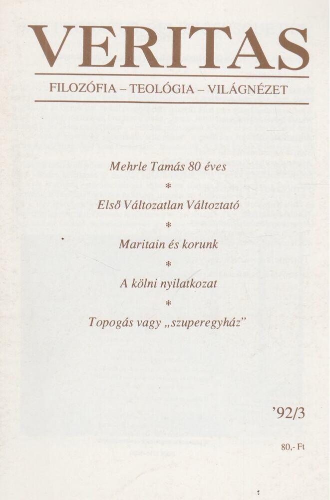 Veritas 1992/3