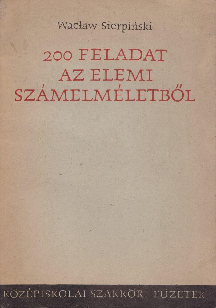 200 feladat az elemi számelméletből