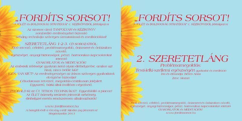 2.SZERETETLÁNG - Problémamegoldás - Testi-lelki-szellemi egészségért szöveges gyakorlat és meditáció - CD