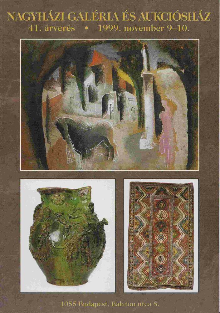 Nagyházi Galéria és Aukciósház 41. árverés