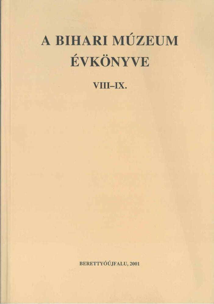 A Bihari Múzeum évkönyve VIII-IX.