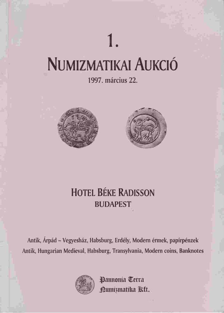 1. Numizmatikai aukció
