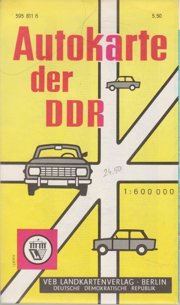 Autokarte der DDR (1:600000)