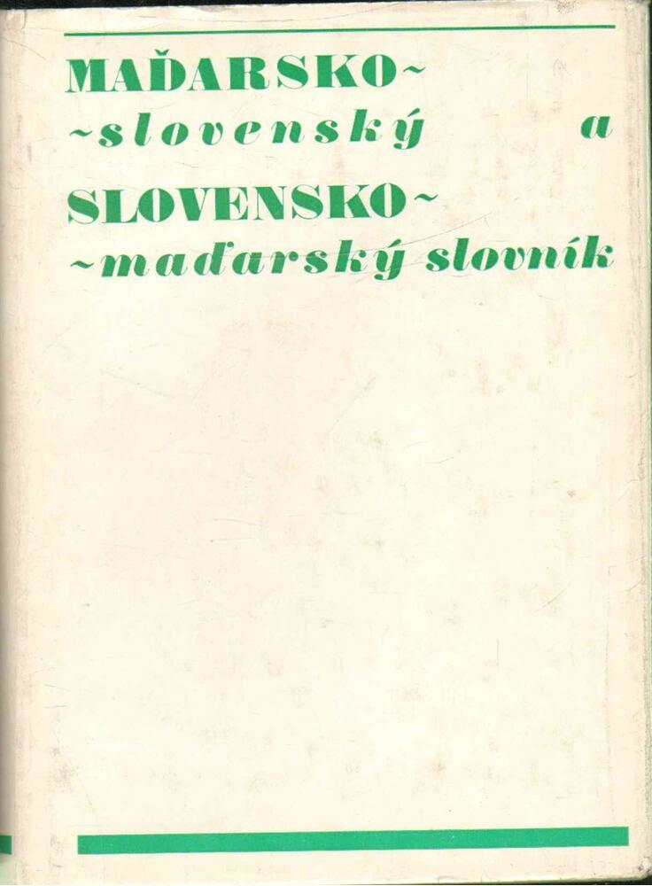Madarsko-slovensky, slovensko-madarsky slovník