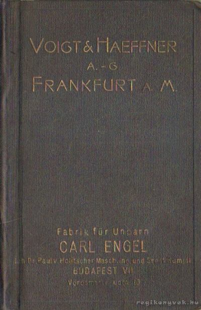 Voigt & Haeffner aktiengesellschaft Frankfurt A. M.