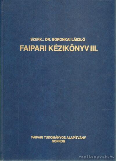 Faipari kézikönyv III.