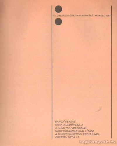 XI. Országos Grafikai Biennálé Miskolc, 1981
