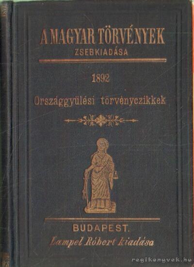 1892. évi törvények gyüjteménye