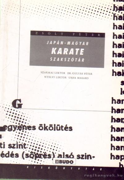 Japán-magyar karate szakszótár