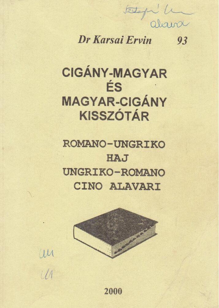 Cigány-magyar és magyar-cigány kisszótár