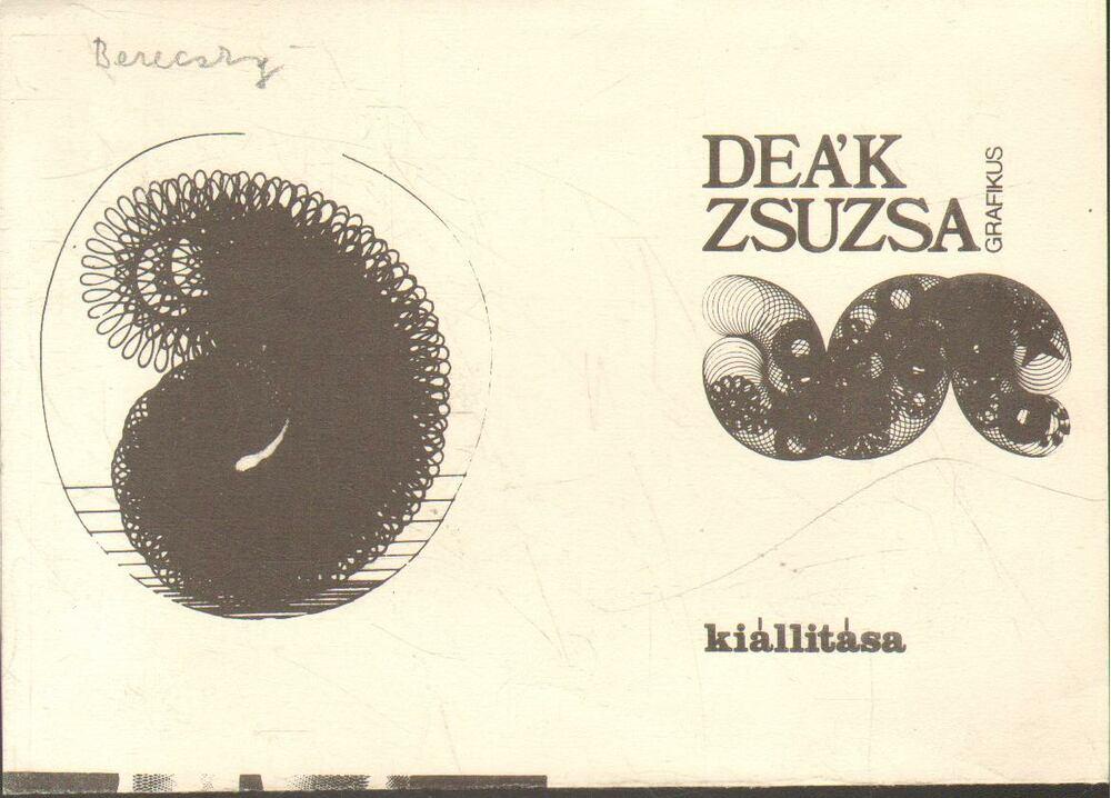 Deák Zsuzsa grafikus kiállítás