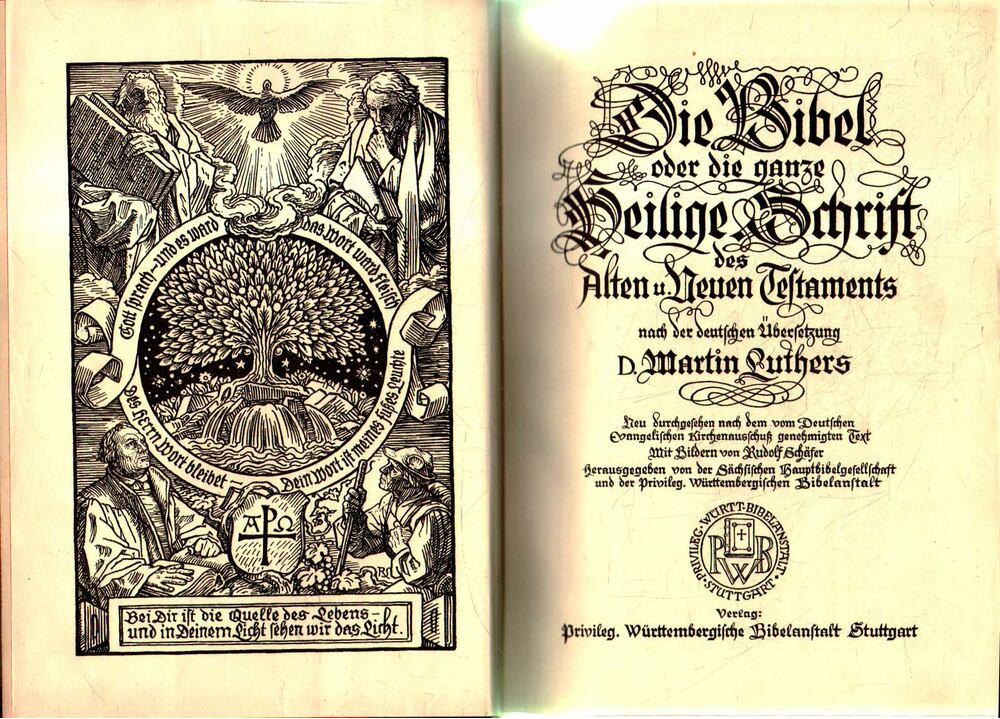 Die Heilige Schrift mit Bildern von Rudolf Schäfer