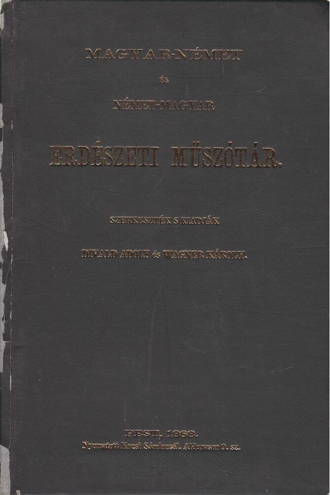 Magyar-német és német-magyar erdészeti műszótár