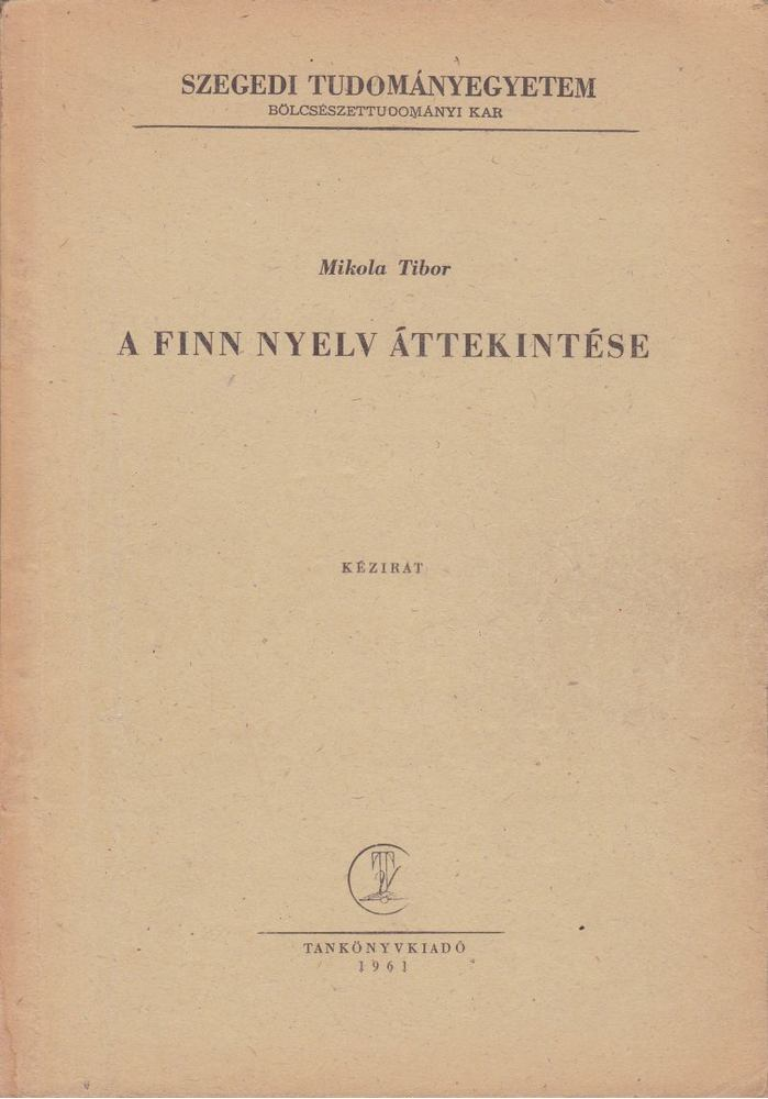 A finn nyelv áttekintése