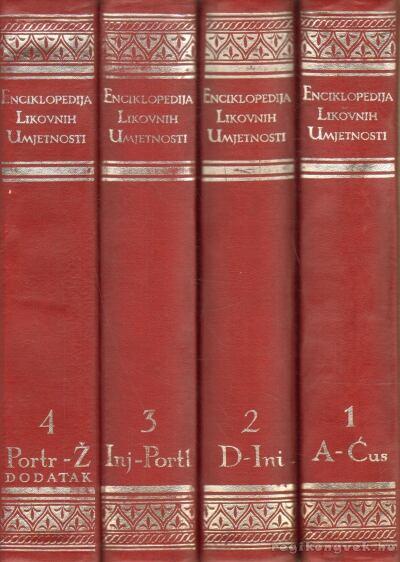 Enciklopedija Likovnih Umjetnosti (Művészeti Encikloédia) 1-4.