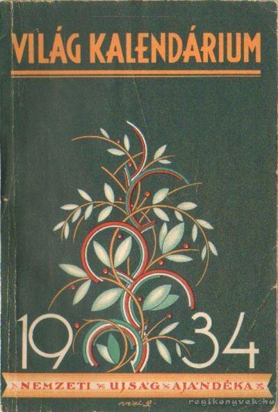 Világ kalendárium 1934