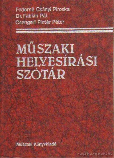 Műszaki helyesírási szótár