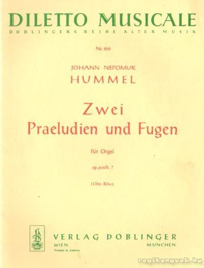 Zwei Praeludien und Fugen für Orgel
