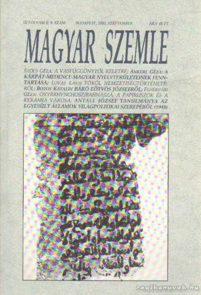 Magyar Szemle 1993. szeptember 9. szám