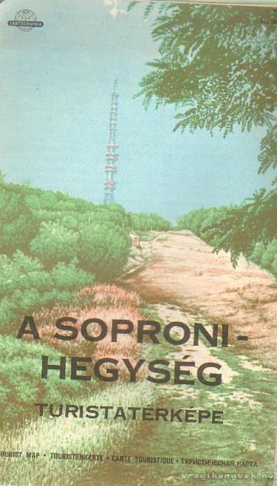 A soproni-hegység turistatérképe