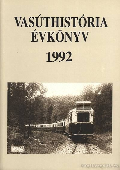 Vasúthistória évkönyv 1992