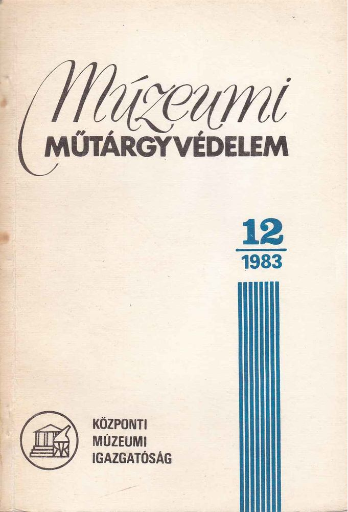 Múzeumi műtárgyvédelem 1983./12.
