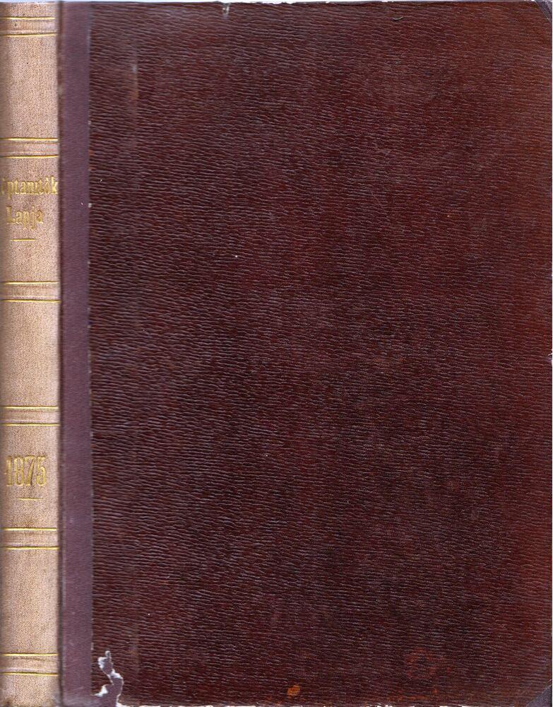 Néptanítók Lapja 1875. teljes évfolyam