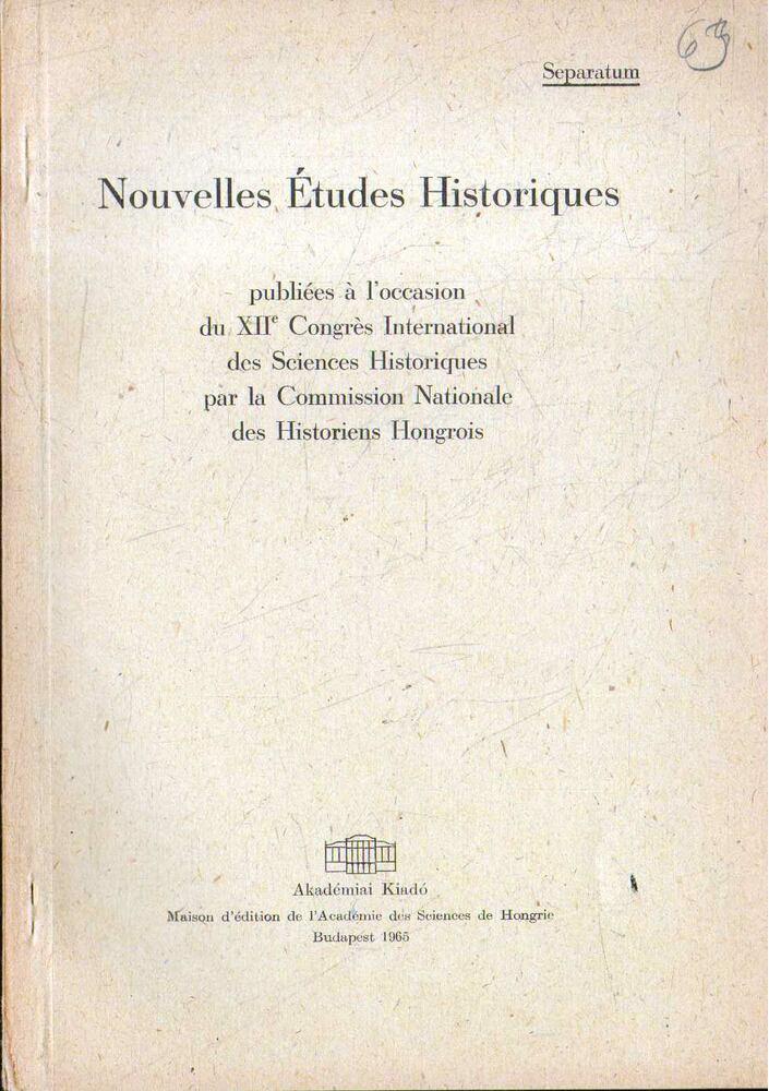 Zur Klassenpolitik des Habsburgerabsolutismus in Ungarn in den sechziger Jahren des 18. jahrhunderts