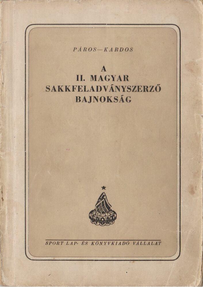 A II. magyar sakkfeladványszerző bajnokság 1951-1952