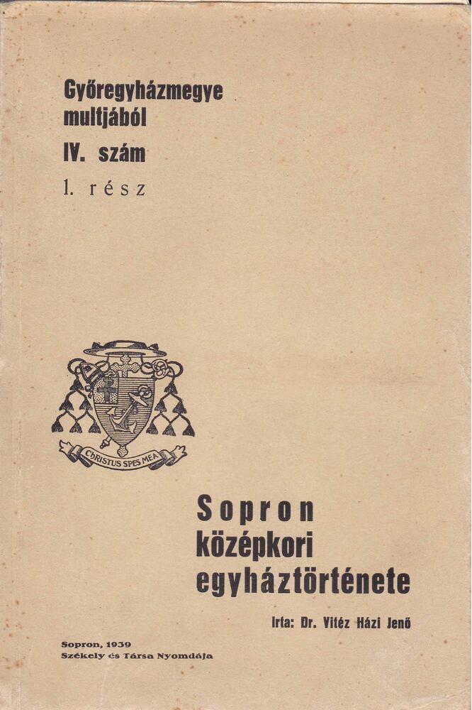 Sopron középkori egyháztörténete