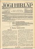 Jogi hirlap 1937. XI. évfolyam 1-52. szám (teljes) - Dr. Boda Gyula (szerk.)