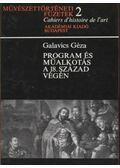 Program és műalkotás 18. század végén - Galavics Géza