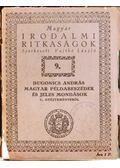 Dugonics András magyar példabeszédek és jeles mondások c. gyűjteményéből