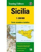 Szicília régiótérkép 1:200e TCI (2015)