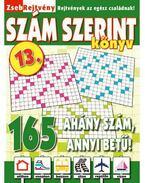 ZsebRejtvény SZÁM SZERINT Könyv 13.