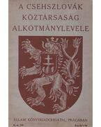 A Csehszlovák Köztársaság Alkotmánylevele