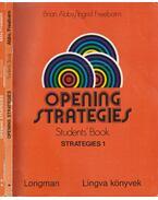 Opening Strategies I-II.