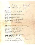 Tengeri című vers kézirata