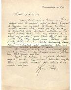 Szenes Piroska levele Gellért Oszkárnak, a Nyugat szerkesztőjének