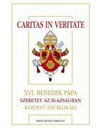 CARITAS IN VERITATE - XVI.BENEDEK PÁPA SZERETET AZ IGAZSÁGBAN KEZDETŰ ENCIK
