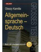 ALLGEMEINSPRACHE DEUTSCH - GROSSES TESTBUCH - KÖNYV + CD -