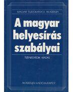A magyar helyesírás szabályai