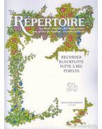 Répertoire zeneiskolásoknak - furulya 2b