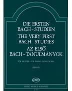 Az első Bach-tanulmányok zongorára