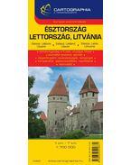 ÉSZTORSZÁG, LETTORSZÁG, LITVÁNIA TÉRKÉP 1:850000