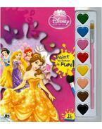 Disney Hercegnők - A5 kifestő vízfesték készlettel