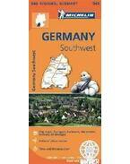 Németország dél-nyugat térkép 2013