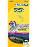 Umbria, Marche térkép - 2013