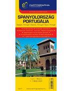 SPANYOLORSZÁG, PORTUGÁLIA AUTÓTÉRKÉP - CART. -