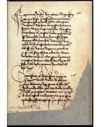 Héderváry-kódex - Mátyás király leveleskönyve a Héderváry család egykori könyvtárából